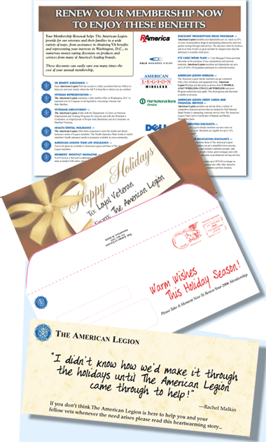 Renewal mailing for American Legion