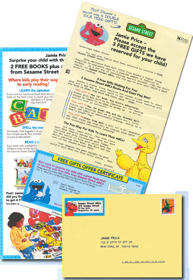 Acquisition mailing for Sesame Street Book Club